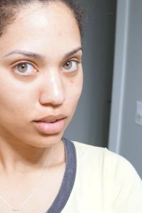 Makeup-less face post face mask!