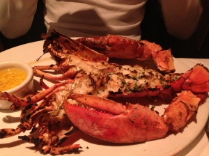 THE LOBSTER!  Grilled and buttered!