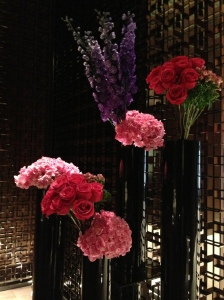 Flowers in the Four Seasons lobby.
